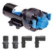 Jabsco Par-Max PLUS 6.0 Freshwater Pressure Pump - 12 Volt - 22.7 LPM - 60  PSI - Includes Hose Connectors - Jabsco 82600-0092  (J20-184)