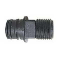 "Jabsco Snap-In Ports - 23mm Plug-in with 1/2"" Male Thread and Straight Port - Sold in Pairs 50644-1000 (J25-177)"