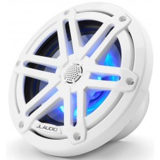 JL Audio M3-650X-S-GW-I 6.5-inch (165 mm) Marine Coaxial Speakers, Gloss White Sport Grille with RGB LED Illumination - 60W 4Ω - High Performance (15450-001)