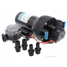 Jabsco  Par-Max 5HD Freshwater Pressure Pump - 12 Volt - 19 LPM - 40 PSI - Includes 12mm and 20mm Hose Fittings and Strainer - Jabsco P501J-115S-3A (J20-278)