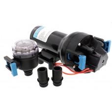 Jabsco Par-Max 6HD Freshwater Pressure Pump - 12 Volt - 22.7 LPM - 40  PSI - Includes Hose Connectors and Strainer - Jabsco 601J-215S-3A  (J20-282)