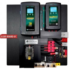 Enerdrive eSYSTEM DIY Installation KIT - Incl. 40A AC Charger, 40A DC Charger, MPPT Solar Charger and ePRO Battery Monitor (K-DIY-Board-01)