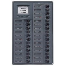 BEP Marinco Millennium 28 Circuit Breaker DC Panel - Horizontal with Digital Meter (113208 - SUR M28-DCSM)