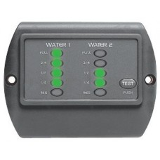 BEP Marinco Contour Matrix LED Tank Gauge - Suits 2 Tanks (Incl 1 x Sender) - Freshwater or Grey Water (113398)