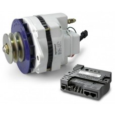Mastervolt Alpha 24/110 MB Alternator and Regulator Combo - 24 Volt 110 Amp Alternator with Dual Belt Pulley - Six O'clock mounting (SUR 48624110)