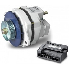 Mastervolt Alpha 12/130 MB Alternator and Regulator Combo - 12 Volt 130 Amp Alternator with Multi Groove Pulley - Six O'clock mounting (SUR 48612131)