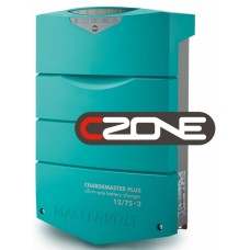 Mastervolt ChargeMaster PLUS 12/75-3 CZone Battery Charger - 12 Volt 75 Amp - 3 Output - 120/230Volt AC Input - 44310755 (110338)