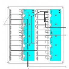 BEP Lighting PCB to Suit 240VAC Switch Panels - 4 Way Circuit Boards to Control Backlighting (PCB-4W-AC230-SP)