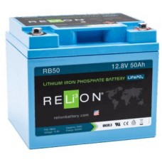 RELiON RB50 Lithium LiFePO4 Battery 50Ah 12V - Complete System incl Battery Management System (RB50)