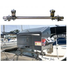 Galleymate Marine Barbecue Outboard Rail Mount with Spacer Bar - Suits GM1100 and GM1500 - Suits Rails 19-32mm (RMS)