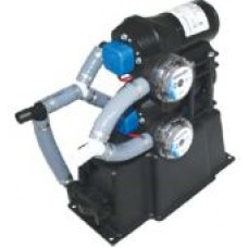 Jabsco Dual Max Fresh Water Pressure Pump System - 24 Volt - 28LPM - 20 to 40PSI - Integrated Accumulator Tank - Suits 19mm Hose Fittings 31670-0094 (J20-129)