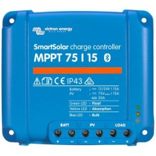 SmartSolar MPPT 75/15 Solar Charge Controller - Solar Panel Regulator with Bluetooth Control Built-In  – Suits 12 or 24V Systems (SCC075015060R)