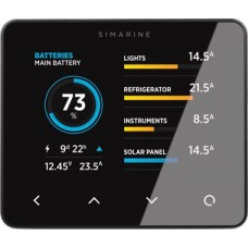 Enerdrive SIMARINE PICO-5 Digital Monitoring System - 12, 24 Volt Systems - 98 x 83mm BLACK Display - Display Only (SI-PICO-5)