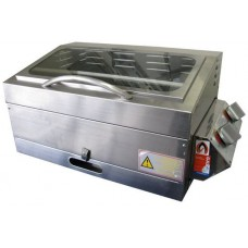 * IN STOCK * Sizzler Deluxe Gas Barbecue - High Lid with Window - Teflon Coated ALUMINIUM HOTPLATE - Suits Camping and Caravans (Sizzler Alloy Hi/Lid)