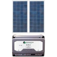 Solar Weekender 110W Solar Package incl. PWM Solar Controller - Charges Max 6A/hr @ 12V - Suits 12-24V Systems (ENE110WP)