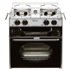 Tecma NELSON Cooker - 2 Burner Gas with Oven and Grill - Marine Grade Gimballed Stove incl Pot Holders (0170010)