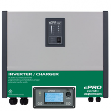 ePRO Inverter Charger Combi - 12 Volt to 240V Pure Sine Wave Inverter (2600W) with 120 Amp Battery Charger, Auto Transfer Switch and Remote Panel (EPC 3000-12K)