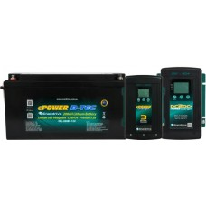 Enerdrive ePOWER Lithium B-TEC 200Ah Battery 12V - Incl Bluetooth Monitoring - Incl. 40A DC2DC Charger and MPPT Solar Controller and 60A AC Charger (EPL-200BT-12V-G2+DC40+AC60)
