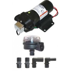 Jabsco V-Flo 5.0 Freshwater Pressure Pump Kit - 12 Volt - 19LPM - 40PSI - Now Discontinued Alternate Pump is a J20-180 (J20-170)