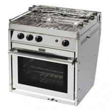 Force 10 - A31 - 3 Burner Gourmet Galley Range - Marine S/S Gimbaled Stove and Oven with Grill - Incl Pot Holders & Gimbals - Made in France (63351)