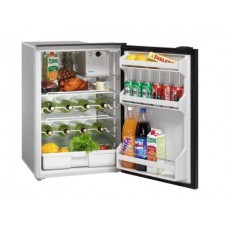 Isotherm CR130 DRINK Inox Stainless Steel Matched Drinks Fridge - 12 or 24 Volts - 130 Litre Fridge Only - Right Hand Door Hinge - 1130BA1MK (381711)