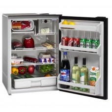 Isotherm CR130 Cruise Matched Fridge/Freezer - 12 or 24 Volts and 240V AC - 122L Litre Fridge with 8 Litre Freezer - Changeable Left or Right Hand Grey Door  (1130BB7AA)