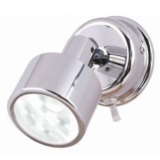 Hella Ponui White Light LED Reading Light in Bright Chrome Finish - 12V (2JA980770201)