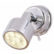 Hella Ponui Warm White Light LED Reading Light in Bright Chrome Finish - 24V (2JA980771301)