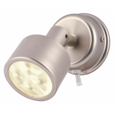 Hella Ponui Warm White LED Reading Light in Satin Chrome Finish - 24V (2JA980771311)