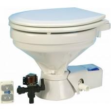 Jabsco Quiet-Flush Toilet - Freshwater Flush - 12 Volt - Large Bowl (J10-123)