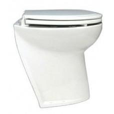 Jabsco Deluxe Silent Flush Electric Toilet - 12V - Compact Height - Slanted Back - Fresh Water Flush (J10-140)