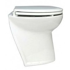 Jabsco Deluxe Silent Flush Electric Toilet - 24V - Compact Height - Slanted Back - Fresh Water Flush (J10-141)