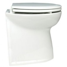Jabsco Deluxe Silent Flush Electric 12V Compact Height Vertical Back Fresh Water Toilet (J10-144)