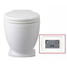 Jabsco LITE-Flush Toilet - 12 Volt - With Control Panel - Fresh or Salt Water Flush (J10-150)