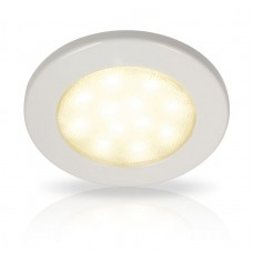 Hella EuroLED 115 Series LED Light - White Rim with Warm White LED Light (2JA980820102)
