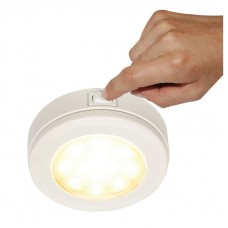 Hella EuroLED 115 Series LED Light - White Rim with Warm White LED Light and Rocker Switch 10-33VDC (2JA980828102)