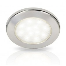 Hella EuroLED 115 Series LED Light - Polished 316 Stainless Steel Rim with White LED Light (2JA980820012)