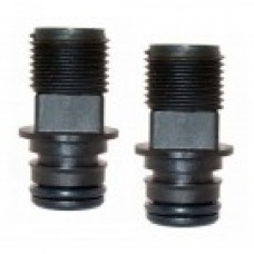 Jabsco Snap-In Ports - 19mm Plug-in with 12mm Male Threaded and Straight Port - Sold in Pairs 30649-1000 (J25-141)