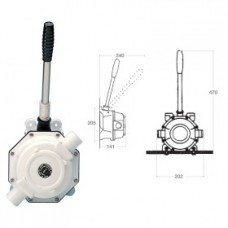 Whale Manual Toilet Waste Pump - Also Suitable For  Pumping the Bilge or Diesel - 56LPM - Suits 38mm Hose (131019)
