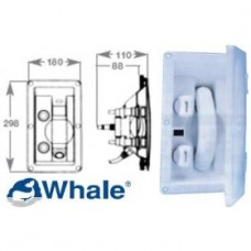 Whale Recessed Mixer Taps Swim - N - Rinse With Retractable Hose and Cover - Suits Hot and Cold Water (134113)