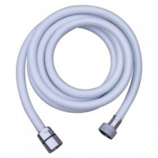 White Shower Hose - 1.5 Metres Long - With Fittings (134328)