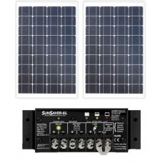 Solar Battery Minder - 40W Solar Package incl. PWM Solar Controller - Charges Max 2.26A/hr @ 12V - Suits 12V Systems (ENE40WP)