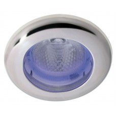 Hella SpotLED Light, White Light with Blue Ambient Ring and Satin Stainless Rim (2JA343980162)