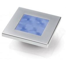 Hella Marine Square Blue Courtesy Light with Satin Chrome Rim - 12V (2XT980582261)