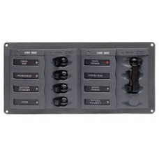 BEP Marinco Contour AC Mains Panel with Manual Changeover Switch and 4 AC Circuit Breakers (113220 - SUR 900-AC1)