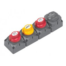 BEP Marinco Horizontal Battery Switch Cluster with Digital VSR 114070 (SUR 716-H-140A-DVSR)